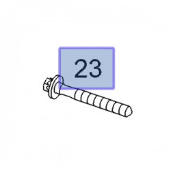 Śruba wahacza tylnego 11102421 (Signum, Vectra C)
