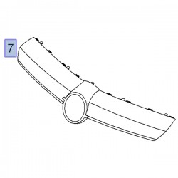 Atrapa grill chłodnicy-wypraska 93191010 (Corsa D)