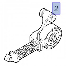 Napinacz paska wielorowkowego PK 25195388 (Adam, Astra, Corsa Insignia A i inne)