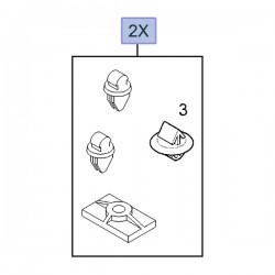 Spinki wypraski drzwi przednich 93160023 (Vivaro A)