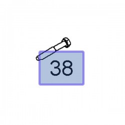 Śruba wahacza tylnego 94502050 (Antara)