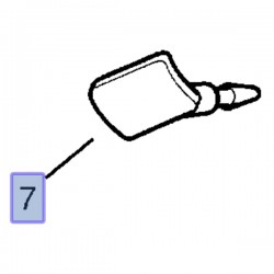 Zaślepka przedniego słupka 24451463 (Signum, Vectra C)