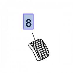 Gumowa nakładka pedału hamulca 93188880 (Adam, Corsa D, E, Meriva B)