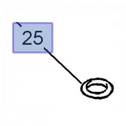 Uszczelniacz wtryskiwacza 93186316 (Astra G, H, Signum, Vectra B, C)
