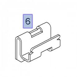 Zacisk wykończenia drzwi przednich 90491455 (Astra H, Omega B)