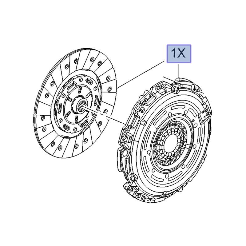 Zestaw sprzęgła 1.6 CDTi 55485507 (Astra J, K, Insignia A, B, Meriva B, Mokka)