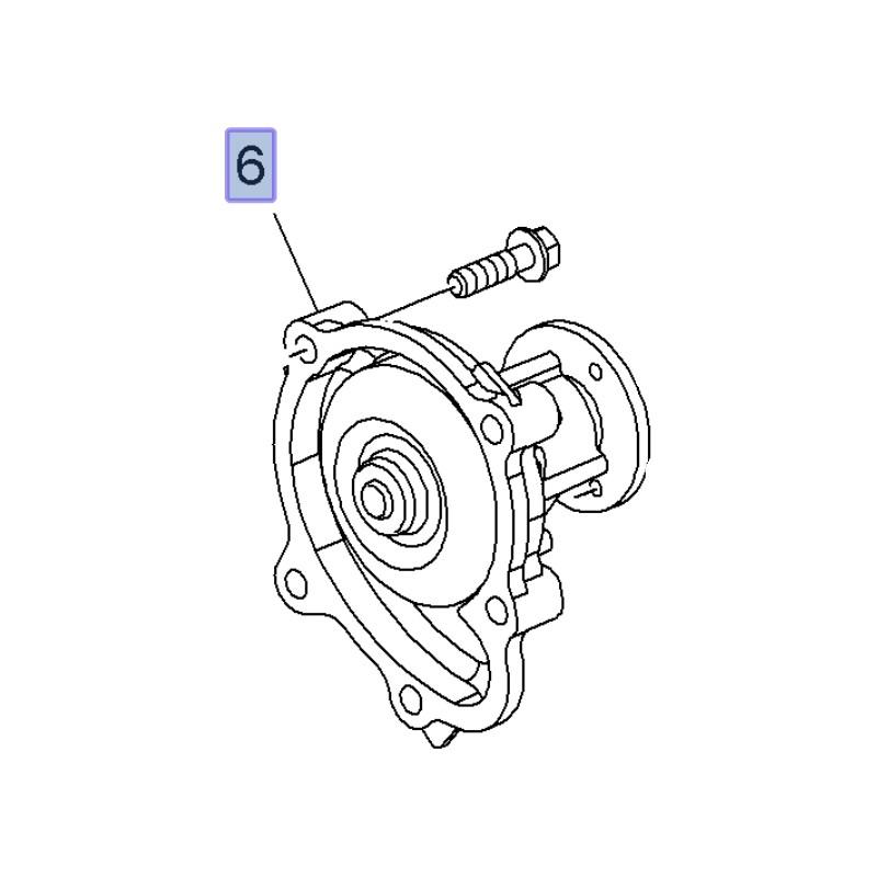 Pompa wody 1.7 98109416 ( Astra G, H, J, Corsa D, Meriva B, Mokka, Zafira B)