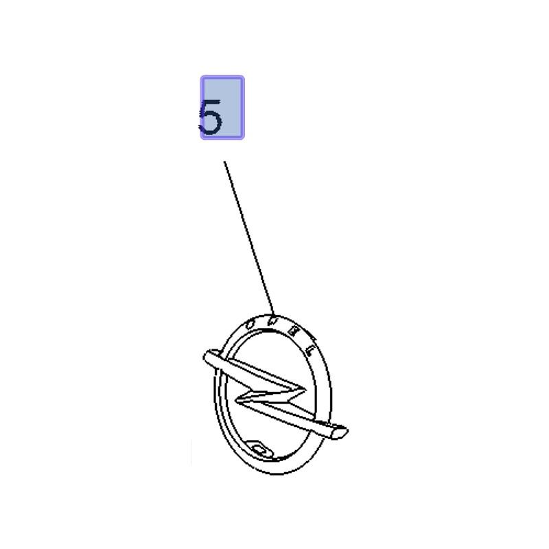Znak OPEL atrapy chłodnicy 95526769 (Combo E)