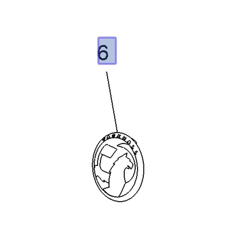 Znak VAUXHALL atrapy chłodnicy 95526770 (Combo E)