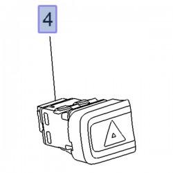 Przełącznik, włącznik świateł awaryjnych 95526749 (Combo E)