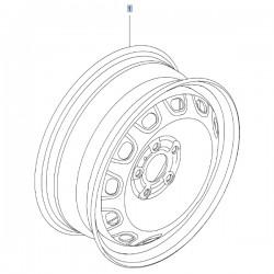 Felga stalowa 6JX16 93866151 (Vivaro B)
