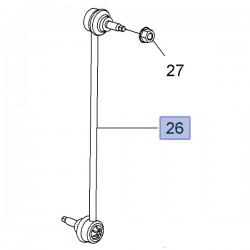 Łącznik stabilizatora przedniego 13391512 (Adam, Corsa E)