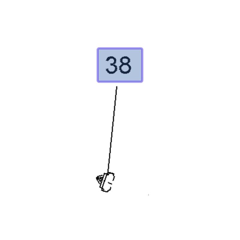 Spinka listwy nadkola 11588818 (Ampera-e, Crossland X, Mokka, Mokka X)