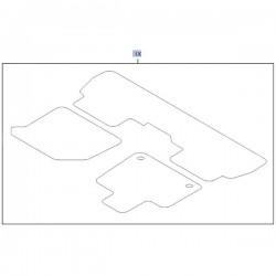 Komplet dywaników materiałowych 95599964 (Combo E)