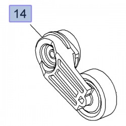 Napinacz paska wielorowkowego 2.0, 2.4 12605175 (Antara, Astra J, Insignia A)