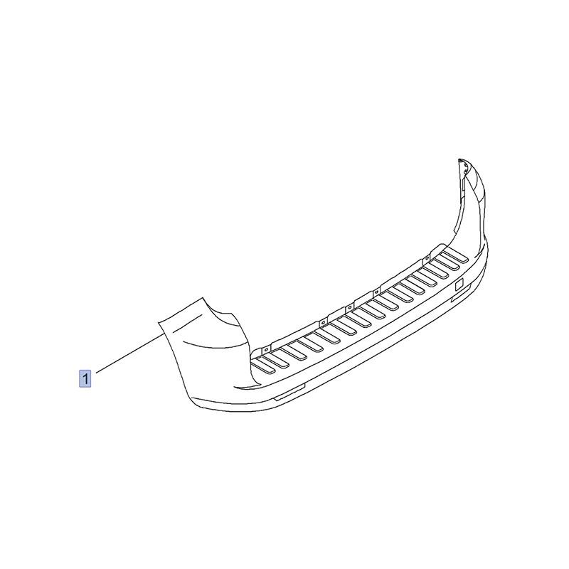 Zderzak tylny 95513286 (Combo D)