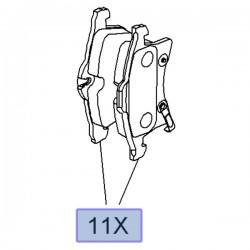 Klocki hamulcowe przednie 95516194 (Adam, Corsa E, Meriva B)