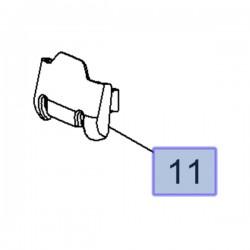 Pokrywka zawiasu kanapy tylnej 13309996 (Astra J)