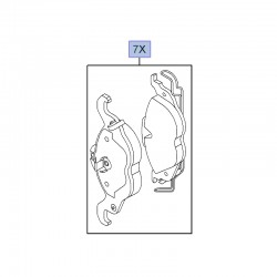 Klocki hamulcowe przednie 9195144 (Astra G, Zafira A)