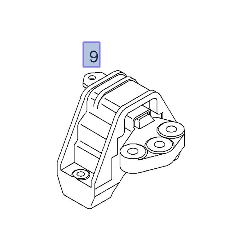 Poduszka silnika, prawa 9156942 (Signum, Vectra C)