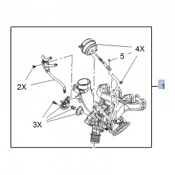 Turbosprężarka 95527141 (Adam, Astra J, Cascada, Corsa D, E, Insignia A, Meriva B, Mokka, Zafira C)