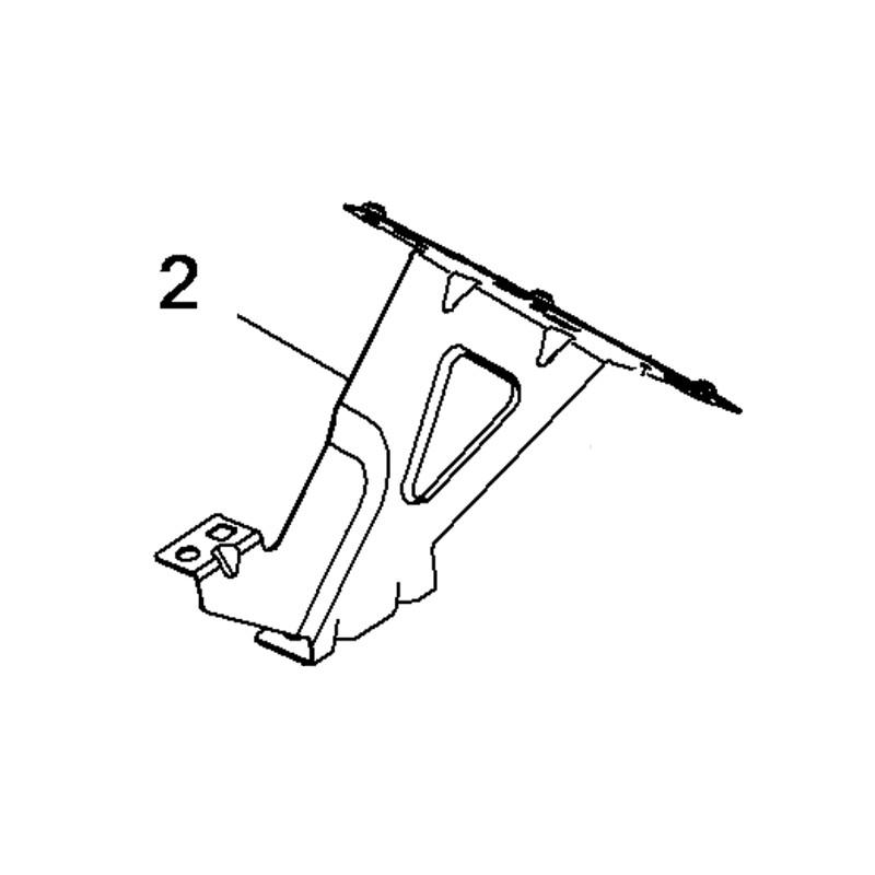 Wspornik błotnika przedniego, prawy 3549515 (Combo E)