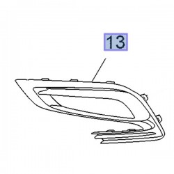 Zaślepka, pokrywa halogenu w zderzaku, prawa 42491766 (Mokka)