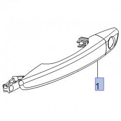 Klamka zewnętrzna drzwi przednich, prawa 13486339 (Combo E, Crossland X, Grandland X)