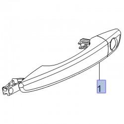 Klamka zewnętrzna drzwi przednich, prawa 39106882 (Combo E, Crossland X, Grandland X)