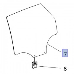 Szyba drzwi tylnych, lewa 3646804 (Grandland X)