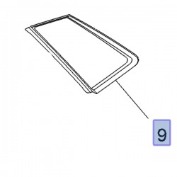 Szyba narożna drzwi tylnych, prawa 3551484 (Grandland X)