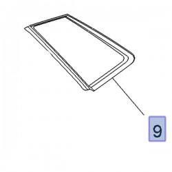 Szyba narożna drzwi tylnych, prawa 3646785 (Grandland X)