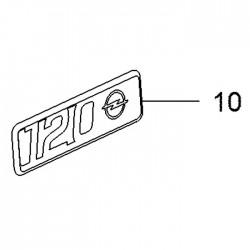 Napis, emblemat 120 LAT 39200621 (Astra K, Corsa E, Crossland X, Grandland X, Insignia B, Karl, Mokka, Zafira C)