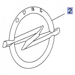 Emblemat tylny logo OPEL BLITZ 3558137 (Grandland X)