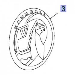 Emblemat tylny logo VAUXHALL GRIFFIN 3558138 (Grandland X)