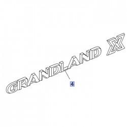 Napis tylny GRANDLAND X 95526471 (Grandland X)