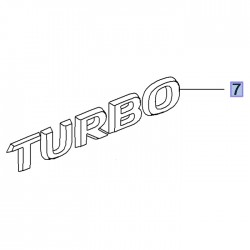 Napis tylny TURBO 95527239 (Grandland X)