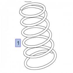 Sprężyna amortyzatora przedniego 93195074 (Agila B)