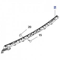 Wspornik środkowy zderzaka tylnego 39097398 (Crossland X)