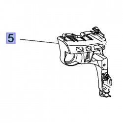 Ślizg, wspornik tylnego górnego zderzaka, lewy 39097400 (Crossland X)