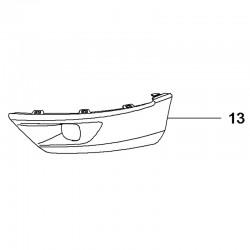 Listwa zderzaka przedniego, lewa 95525716 (Grandland X)