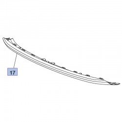 Listwa dolna zderzaka przedniego 95525733 (Grandland X)