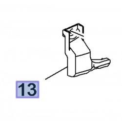 Wspornik zderzaka tylnego, prawy 95245218 (Mokka)