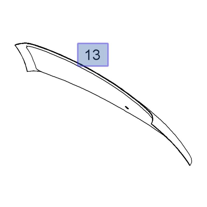 Szyba klapy tylnej 13239150 (Zafira B)