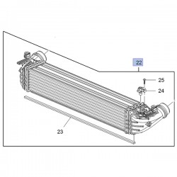 Chłodnica pośrednia turbo 39109103 (Astra K)