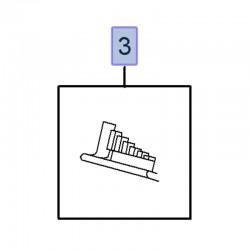 Element dystansujący szyby przedniej 93167894 (Movano B, Vivaro B)