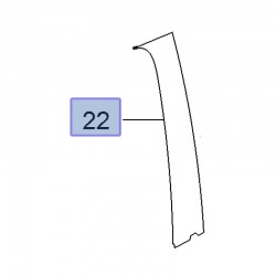 Listwa ozdobna drzwi przednich, prawa 95389475 (Mokka)
