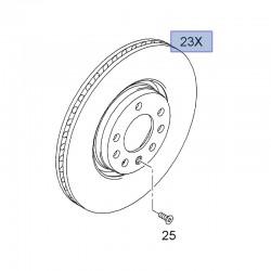 Tarcze hamulcowe przednie 95526655 (Astra G, H, Corsa C, Meriva A, B, Zafira A, B)