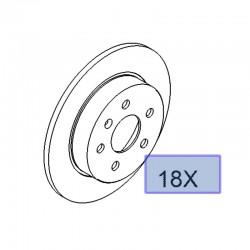 Tarcze hamulcowe tylne 95526658 (Astra G, H, Corsa C, Meriva A, B, Zafira A, B)