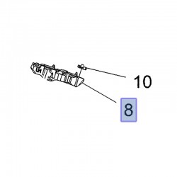 Wspornik prawy zderzaka przedniego 39204263 (Insignia B)